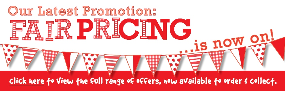 Fair Pricing Promotion Special Offers