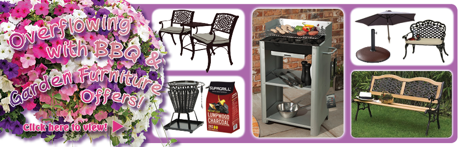 Overflowing with BBQ & Garden Furniture offers!