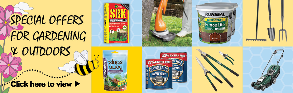 We're buzzing with special offers for Gardening & Outdoors