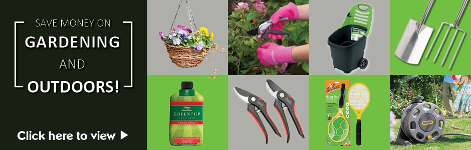 Save money on gardening & outdoors