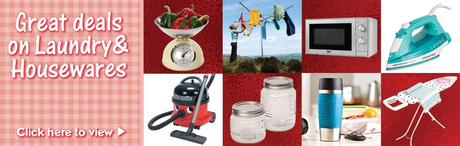 Sweet Summer Savings on Laundry & Housewares